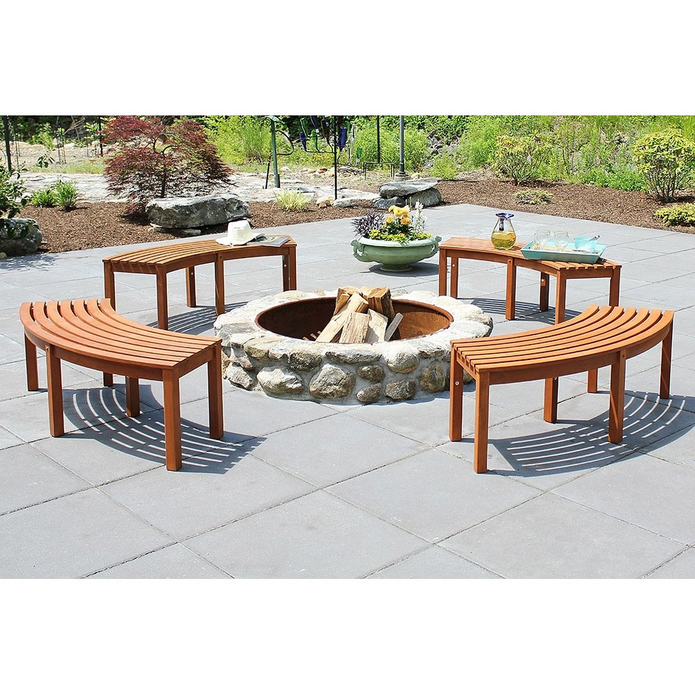 Amazon.com : Achla Designs Curved Backless Bench : Garden \u0026 Outdoor