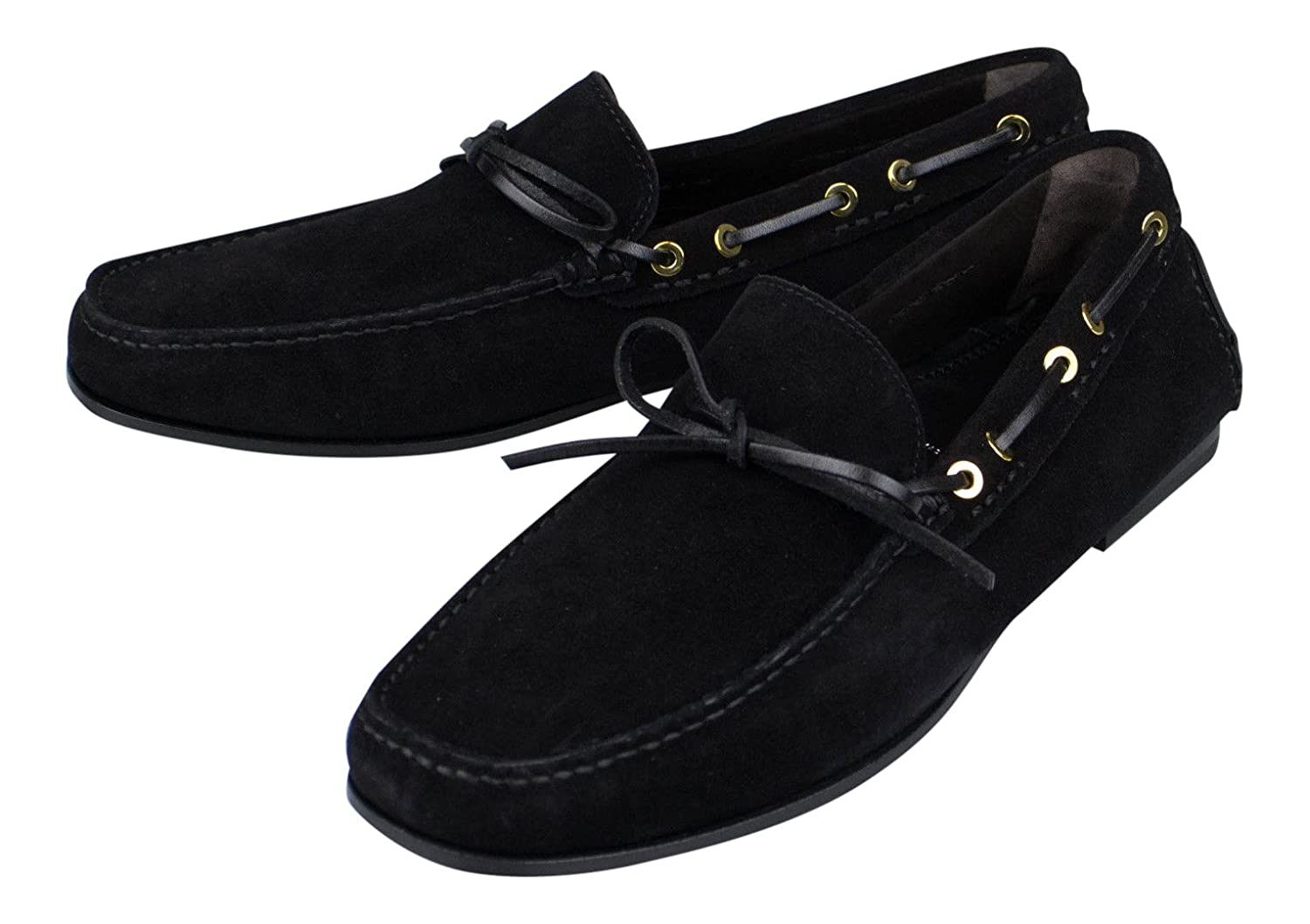 af60ecdf63d Amazon.com  TOM FORD Black Suede Leather Loafers Boat Shoes Size 9.5 US  42.5 EU D  Sports   Outdoors