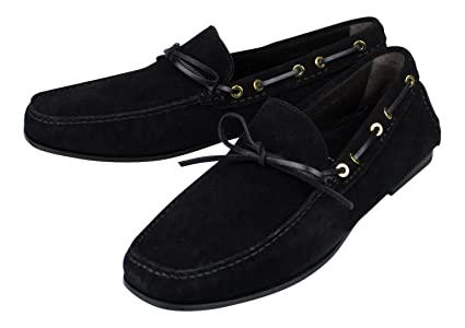 15119b499b5 Image Unavailable. Image not available for. Color  TOM FORD Black Suede  Leather Loafers ...