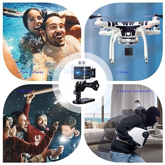 Amazon.com : Hidden Camera Mini Spy Camera Nanny Cam Small Portable Camera HD 1080P Camera 155° Wide Angle Lens Sports Camera Indoor/Outdoor Camera with ...