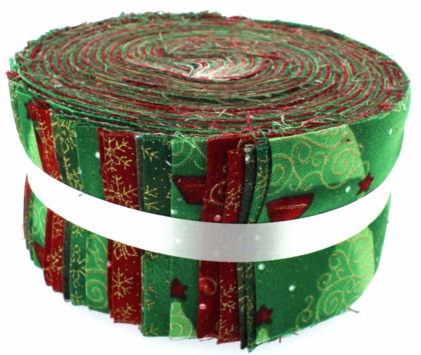 Fabric Freedom Under The Christmas Tree Roll, 100% Cotton, Multicoloured, 13 x 13 x 7 cm FJ503