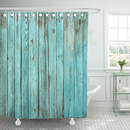 Amazon Com Emvency Fabric Shower Curtain Curtains With Hooks Blue