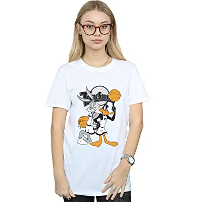 b93868ed29 Absolute Cult Space Jam Femme Bugs and Daffy Petit Ami Fit T-Shirt
