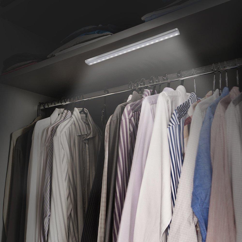 Closet Light, FilFom Motion Sensor 20 LED Closet Light with USB Charging, Portable Wireless Night Stair Light White