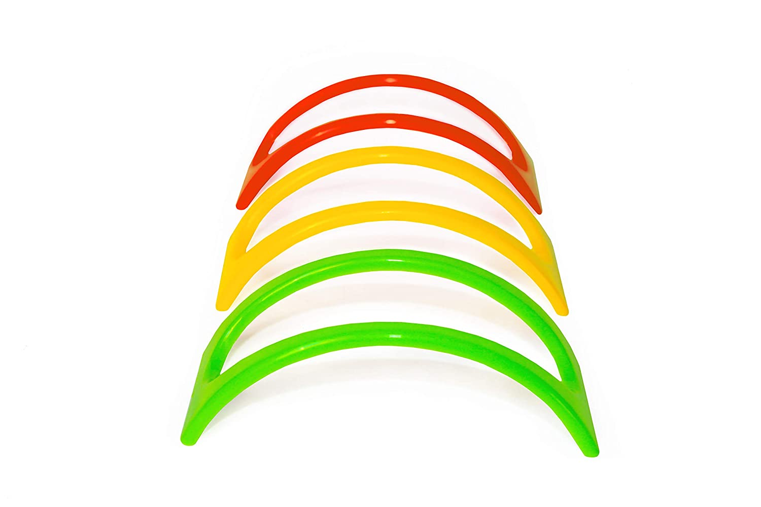 Taco Holder Set of 12, Plastic Taco Stand, Holders Plate for Mexican Taco, Rack Truck Tray style, 3 colors Red Yellow Green, Non Toxic BPA. Bonus Recipe E-book Estico
