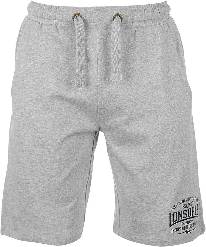 Lonsdale - Pantalones cortos de boxeo para hombre, pantalones deportivos