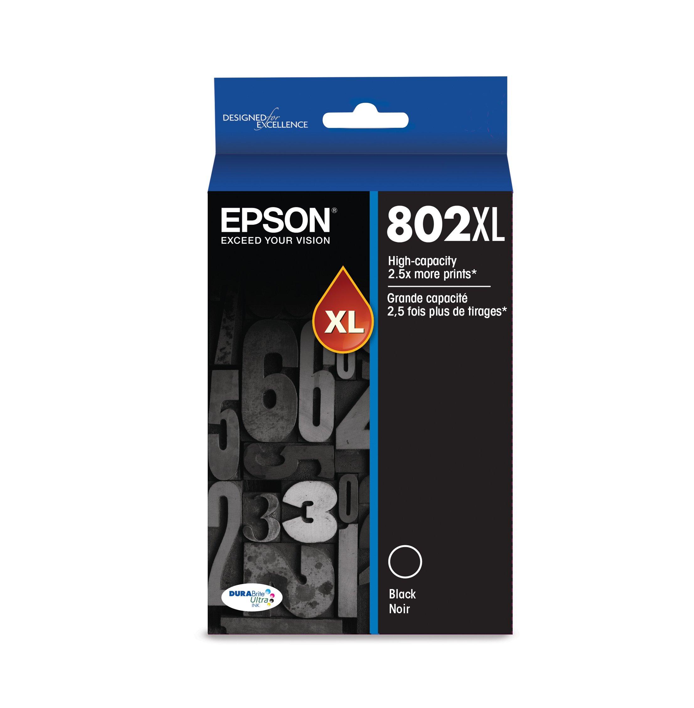 Epson T802XL120 DURABrite Ultra Black High Capacity Cartridge Ink