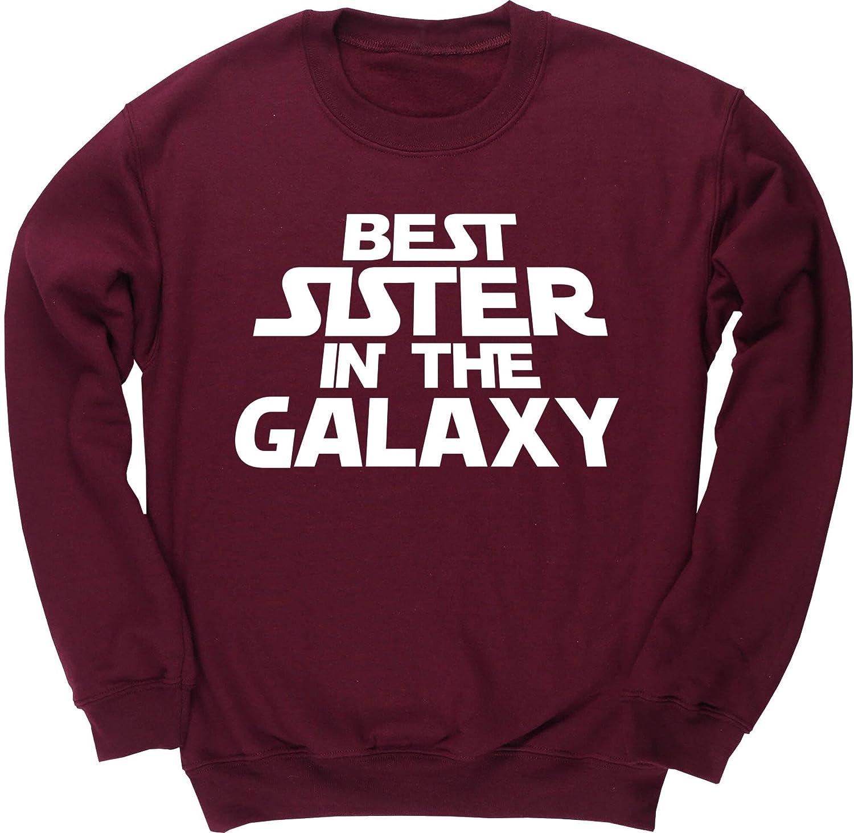 Hippowarehouse Best Sister in The Galaxy Kids Childrens Unisex Jumper Sweatshirt Pullover