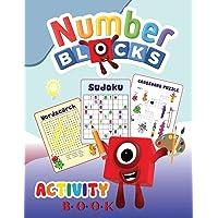 Numberblocks Activity Book: Numberblocks - 1 to 20: Word Search, Crossword Puzzle, Sudoku for Kids, Preschool…