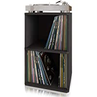 Way Basics Vintage Vinyl Record Cube 2-Shelf Storage, Organizer - Fits 170 LP Albums (Tool-Free Assembly and Uniquely…
