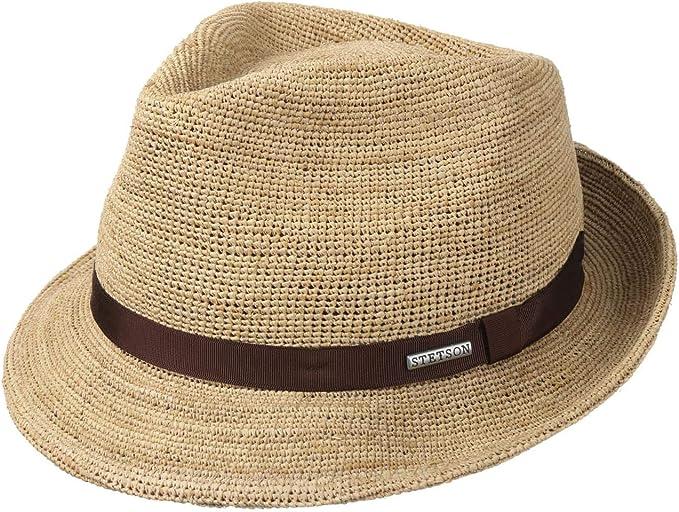 Stetson Cappello Rafia Alpena Player Donna/Uomo - Cappelli da Spiaggia Sole  Fedora con Nastro in Grosgrain Primavera/Estate: Amazon.it: Abbigliamento