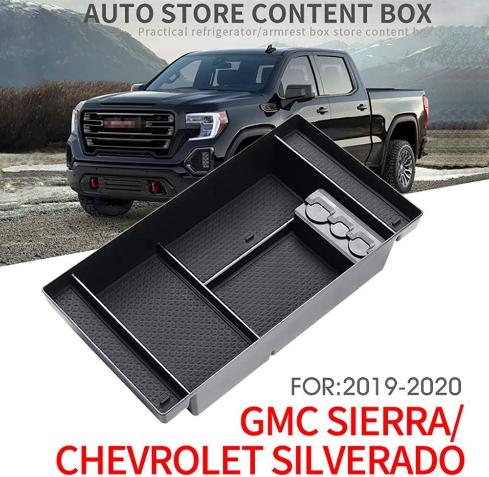 JAUTO 2019 GMC Sierra 1500 Chevy Silverado 1500 Center Console Organizer Tray 2019 GM Vehicles Accessories