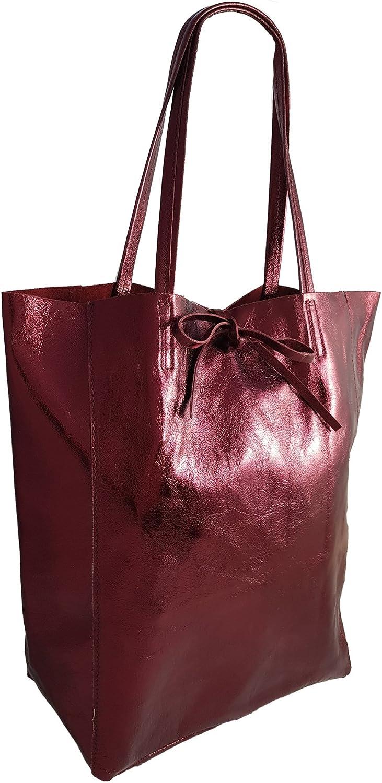Italie. Sac à Dos léger en Cuir véritable pour Femme Sac à Dos en Cuir Coloris Disponibles Dunkelrot Metallic