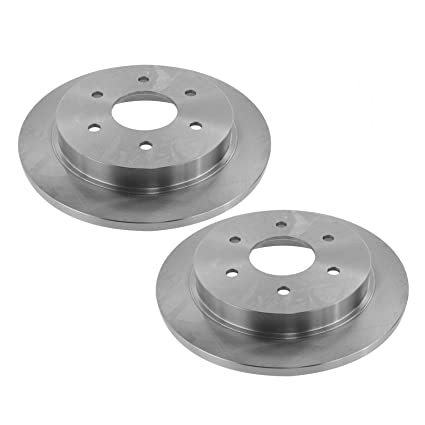 Nakamoto Front Vented Brake Rotor Left /& Right Pair Set of 2 for Nissan Infiniti