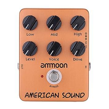 ammoon ap-13 americano sonido Simulador de Amplificador Pedal Guitarra Efectos True Bypass