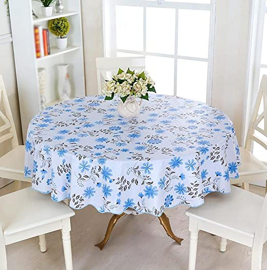 Pastoral plástica europea pequeña mantel mesa redonda impermeable ...