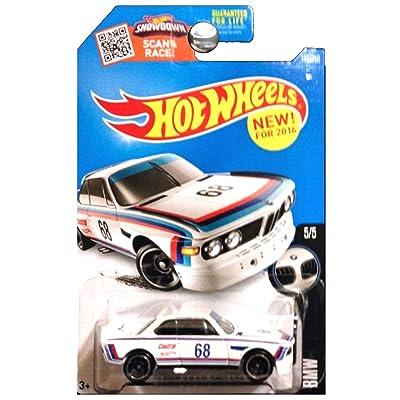 Hot Wheels 2016 BMW Series 1973 BMW 3.0 CSL Race Car White: Toys & Games