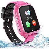 Impermeable GPS Smartwatch para Niños, IP67 Impermeable Reloj inteligente Phone con GPS LBS Tracker SOS Chat de voz…