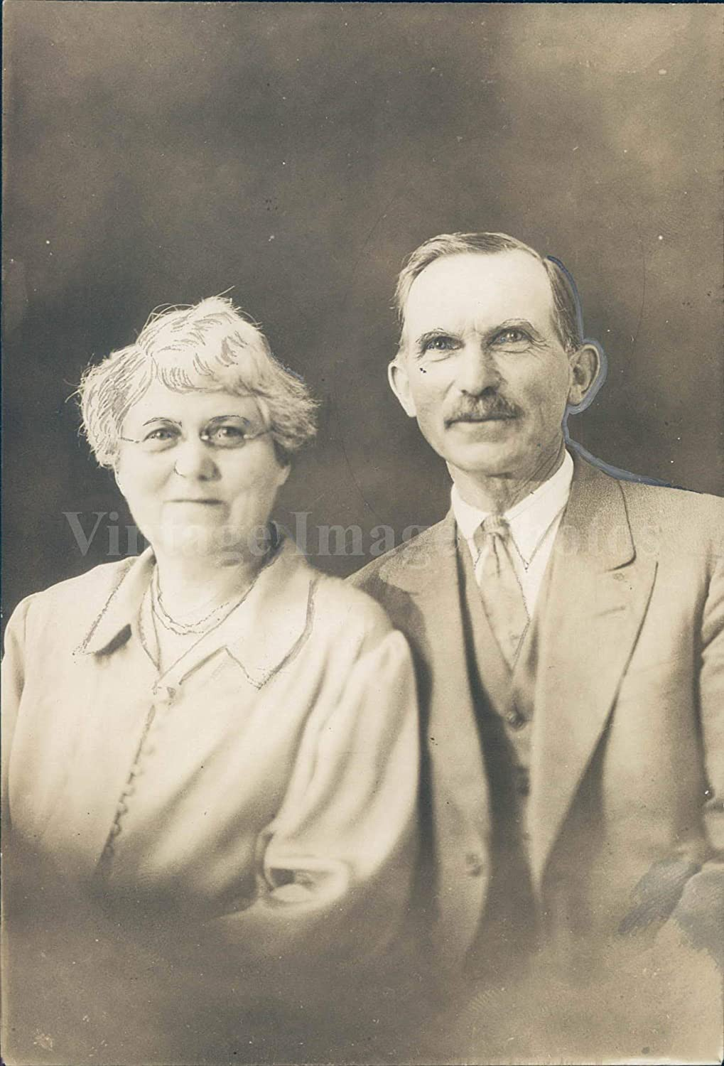 Amazon.com: Vintage Photos 1928 Photo Samuel Ackley Mrs Alice Hubbard Brother  Sister Portrait Smiling Face: Photographs