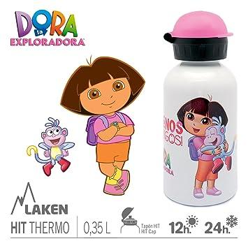 Botella de agua vacío Laken Hit aislamiento Termo de acero inoxidable de boca estrecha, 350 ML Dora 302 Talla:350ML