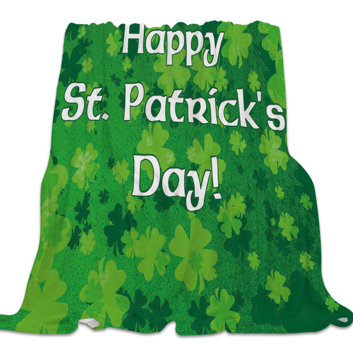 St. Patrick's Day5cly3593 49x79inch=125x200cm Clouday Flannel Fleece Bed Blanket Warm ThrowBlankets for Girls Boys,Cozy Lightweight Blankets for Bedroom Living Room Sofa Couch,Beautiful Universe Pattern,49x59inch
