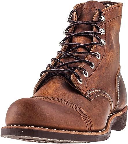 "red wing heritage men's iron ranger 6"" vibram boots"