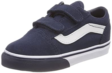 5f79db93cf8a Vans Toddler Old Skool V Size 7.5 (Mono Bumper) Dress Blues