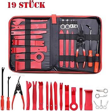 Towinle Demontage Werkzeuge Auto 19 Stück Zierleistenkeile Verkleidungs Reparatur Werkzeuge Tür Innenraum Zierleisten Verkleidung Lösehebel Tool Auto