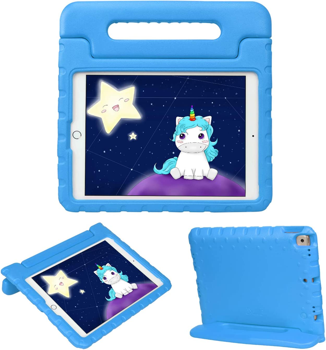 HDE iPad 8th Generation Case for Kids – Shock Proof iPad Cover 7th Generation 10.2 - iPad 10.2 Kids Case with Handle Stand for 7th/8th Generation Apple iPad - Blue