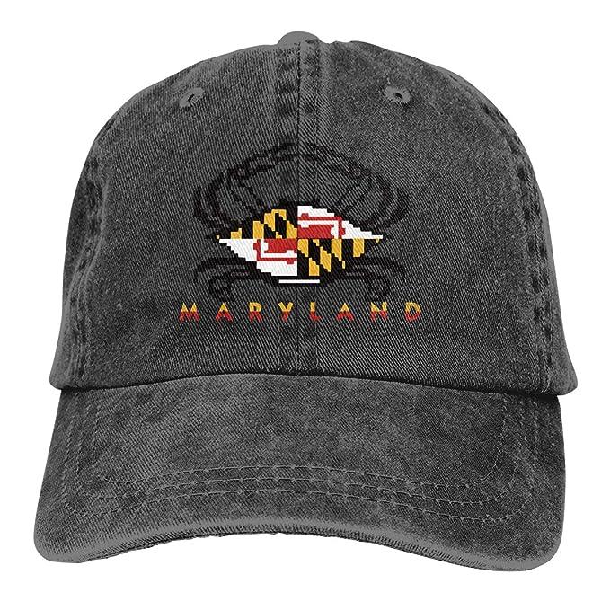 2d2074511ba9c Amidifgy Maryland Flag Crab Printing Adjustable Baseball Cap Hats for Men  Women Adult at Amazon Men s Clothing store