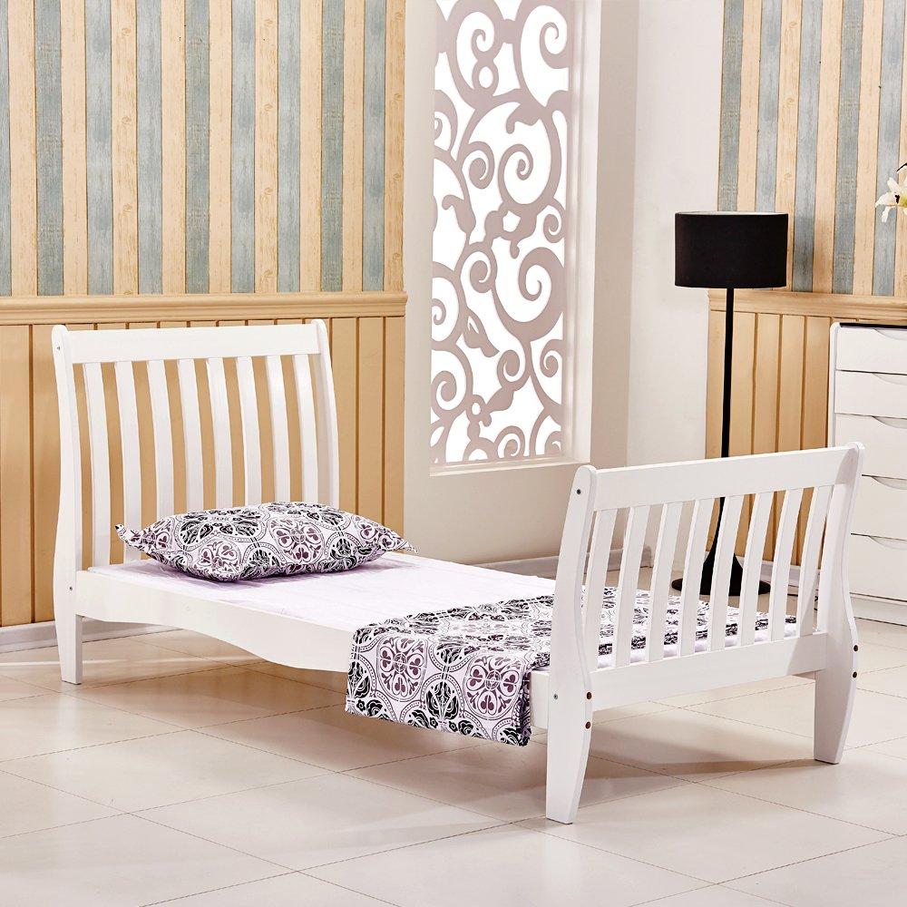 Westwood 3ft single size wooden bed frame solid pine white bedroom furniture home guests adult kids