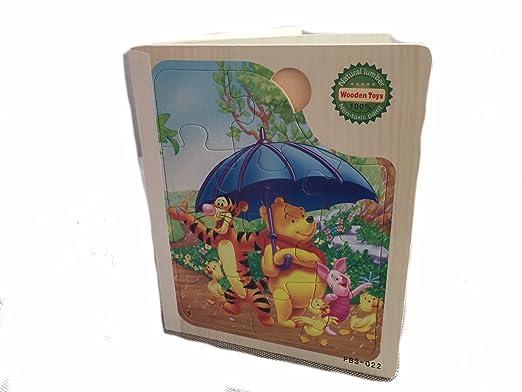 Lia Holzpuzzle BUCH 6x Steckpuzzle Puzzle Winnie Pooh und seine ...