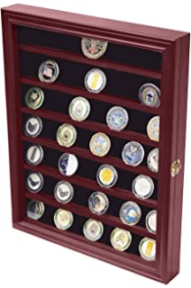Amazon.com: LOCKABLE Military Challenge Coin Display Case Cabinet ...