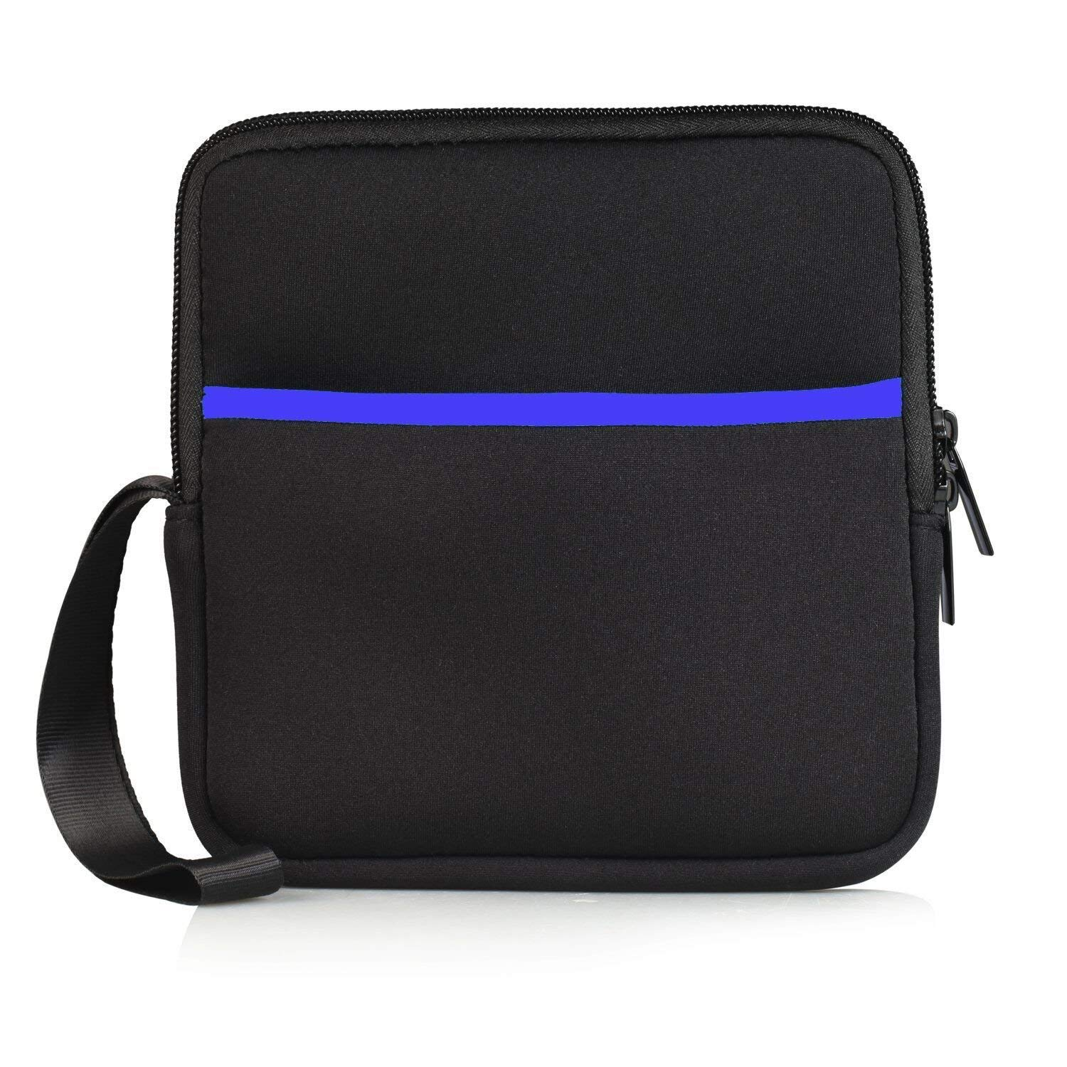 YAHEY External USB CD DVD Drive Protective Sleeve Shockproof Neoprene Carrying Sleeve Case Storage Pouch Bag with Extra Pocket Design for External Blu-Ray Drive Disc Player Hard Drive (Black) by YAHEY (Image #1)
