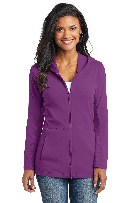 Port Authority Women's Modern Stretch Cotton Full Zip Jacket XS Black 579841