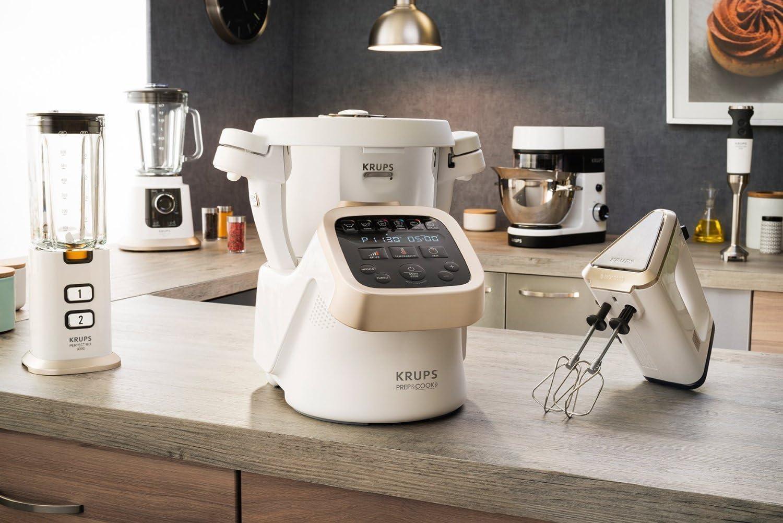 Krups HP5031 Prep & Cook – Robot de cocina multifunción Incluye Accesorios de alta calidad (1550 W y hasta 15.000 U/min) Robot de cocina multifunción blanco: Amazon.es: Hogar