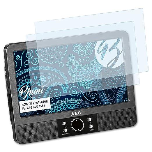 Bruni Schutzfolie für AEG DVD 4552 Folie, glasklare Displayschutzfolie (2X)