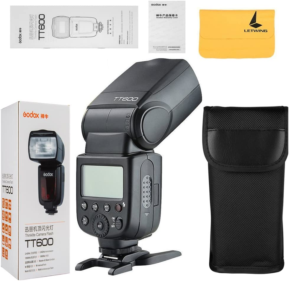 GODOX TT600 2.4G Wireless 2X Camera Flash Speedlite,GODOX XPro-N Flash Trigger Compatible with Nikon Camera