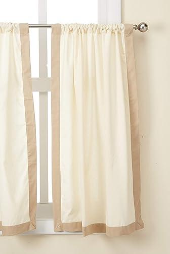 Elrene Home Fashions Wilton Window Tier, 30 x 36 , Beige Linen