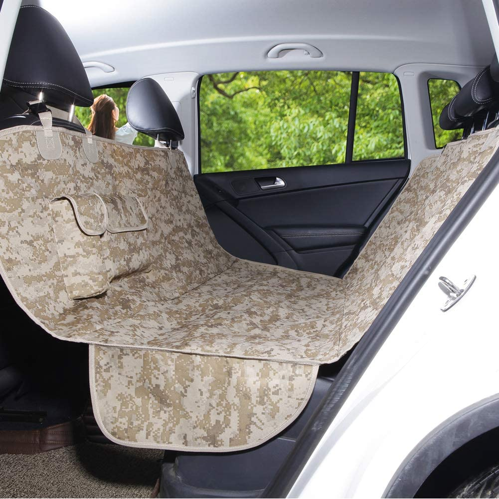 SUV and Trucks AMOFY Dog Car Seat Covers Waterproof Reinforced Stitching Non-Slip Hammock Convertible Pet Seat Cover for Cars Durable Ripstop Scratch Proof