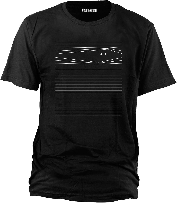 /Überwachung Gr.S-XXXXXL Wolkenbruch/® Herren T-Shirt Augen auf