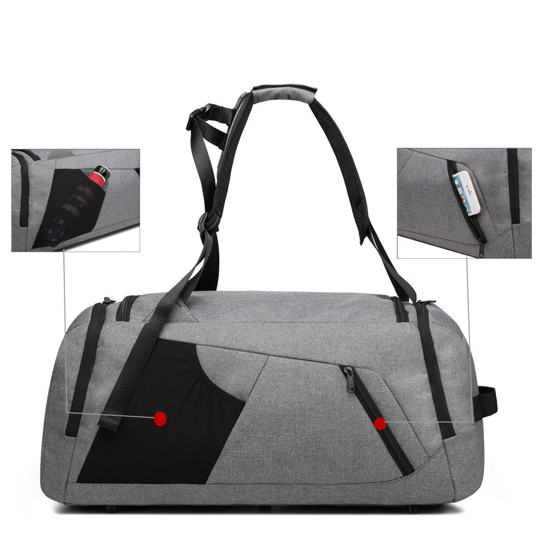 KEYNEW 55L Waterproof Duffel Sports Gym Bag for Men Women with Shoes Compartment by KEYNEW (Image #2)