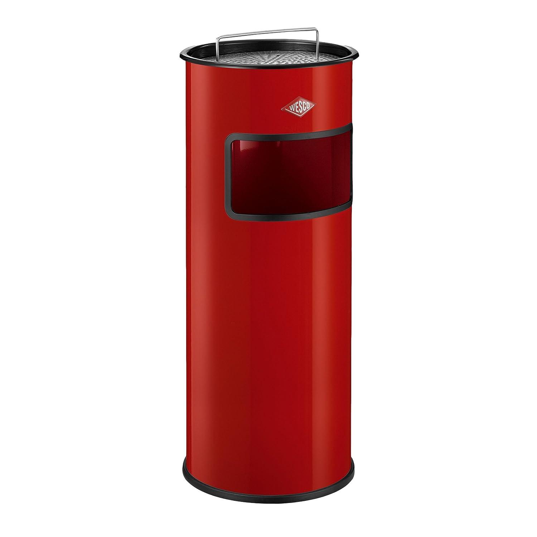 Papelera con cenicero Color Gris Wesco 150 601-02 30 l