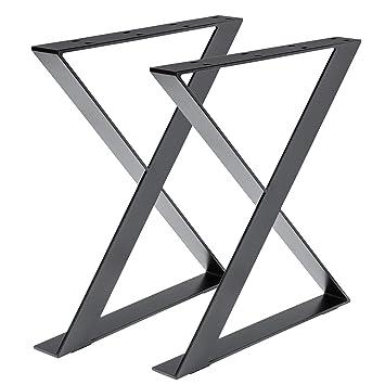 Bois werk24 Armature de table tux505 acier noir croix x Armature Acier Plat  – Table ioniques 78d1da0fdc73