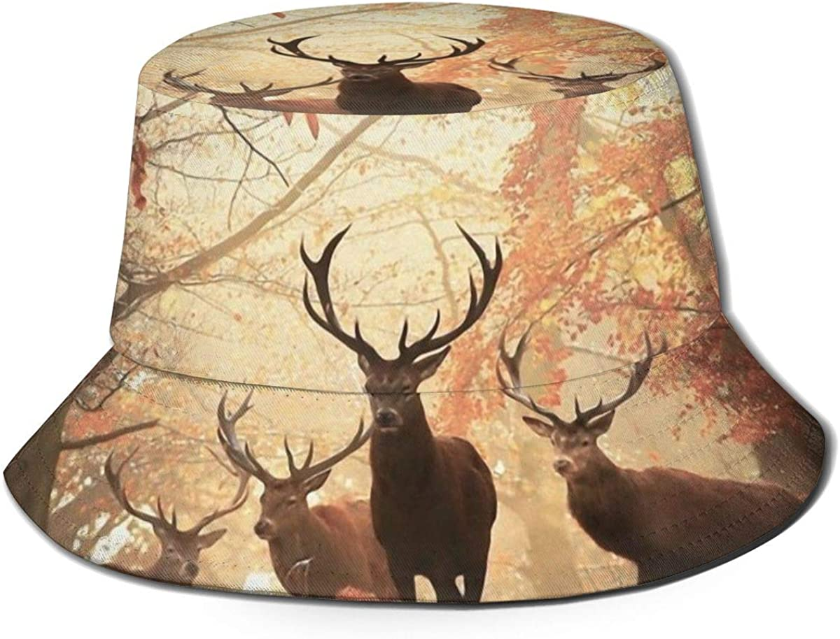 Unisex 100/% Polyester Deers in The Jungle Mesh Hat Low Profile Trucker Baseball Cap for Unisex