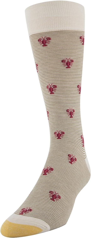1 Pair Gold Toe Mens Printed Novelty Graphic Fashion Dress Crew Socks