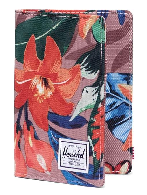 Herschel Raynor Passport Holder RFID Summer Floral Ash Rose