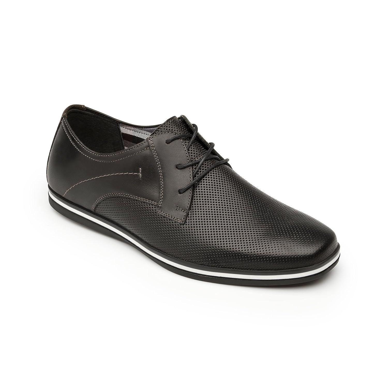 Flexi Shoes Mocasines de Piel Auténtica Para Hombre 45 EU  negro