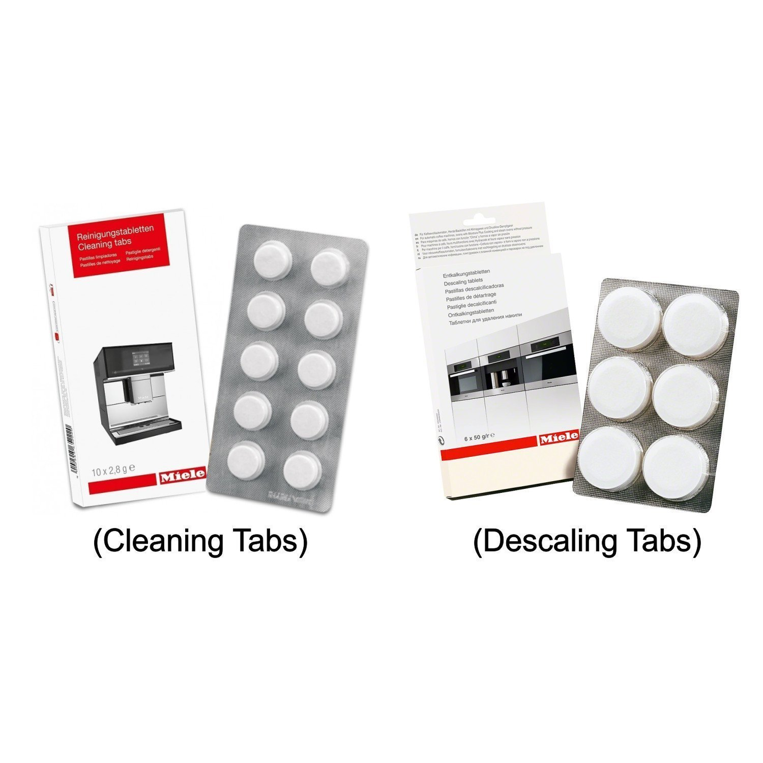 Miele Coffee Machine Cleaning Tablets (10pk) & Descaling Tablets (6pk) 05626050 07616440