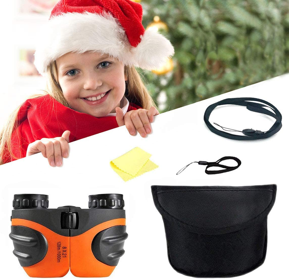Best Toys for 4-9 Year Old Boys Orange Spring/&Toys Binoculars for Kids,8x21 Compact Telescope Boys Gifts 10 Years Old to Wildife and Theater,Gifts for Girl 8 Year Old